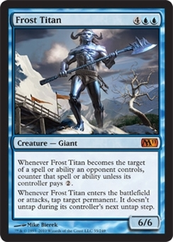 Magic the Gathering 2011 Single Frost Titan FOIL
