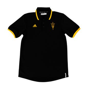 Arizona State Sun Devils Adidas Black Climalite Performance Coordinator Polo (Adult L)