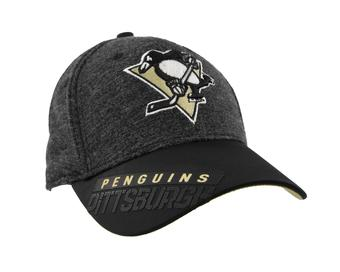 Pittsburgh Penguins Reebok Gray Center Ice Playoff Structured Flex Fit Hat (Adult S/M)