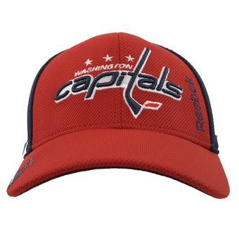 Washington Capitals Reebok Navy & Red Center Ice Draft Structured Flex Fit Hat (Adult S/M)