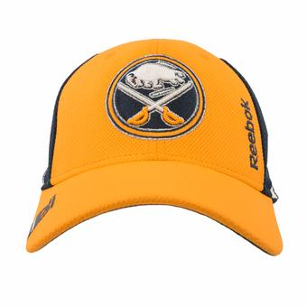 Buffalo Sabres Reebok Center Ice Navy & Yellow Draft Flex Fit Hat (Adult L/XL)