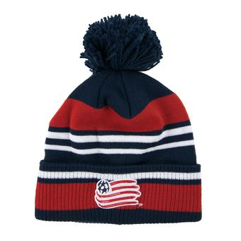 New England Revolution Adidas Navy & Red Cuffed Knit Pom Hat (Adult OSFA)