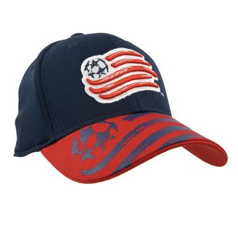 New England Revolution Adidas Navy Structured Flex Fit Hat