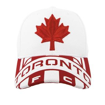 Toronto FC Adidas White & Red Structured Flex Fit Hat