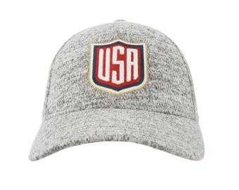 Team USA Mitchell & Ness Grey Duster Flex Fit Hat (Adult S/M)