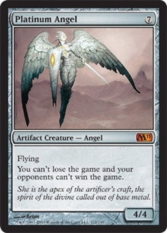 Magic the Gathering 2011 Single Platinum Angel - NEAR MINT (NM)