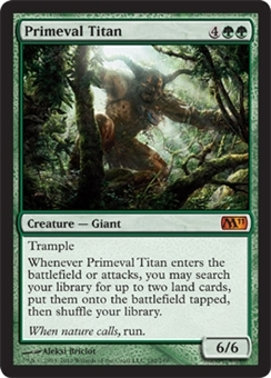 Magic the Gathering 2011 Single Primeval Titan - SLIGHT PLAY (SP)