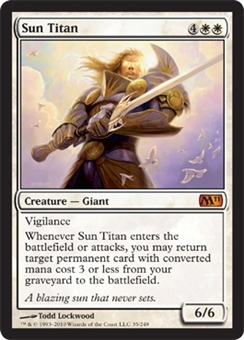 Magic the Gathering 2011 Single Sun Titan - SLIGHT PLAY (SP)