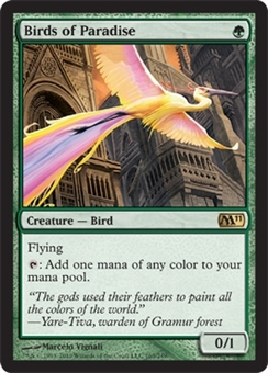 Magic the Gathering 2011 Single Birds of Paradise Foil