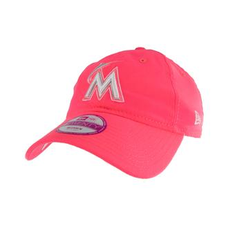 Miami Marlins New Era 9Forty Pink Fashion Ess Adjustable Hat (Womens OSFA)