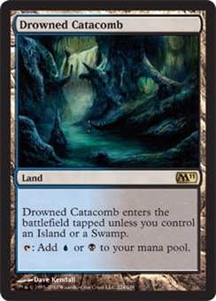 Magic the Gathering 2011 Single Drowned Catacomb - NEAR MINT (NM)