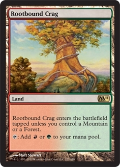 Magic the Gathering 2011 Single Rootbound Crag Foil