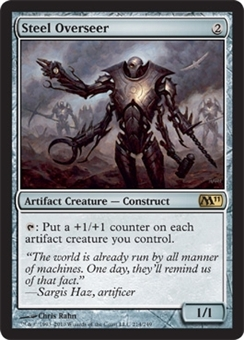 Magic the Gathering 2011 Single Steel Overseer FOIL