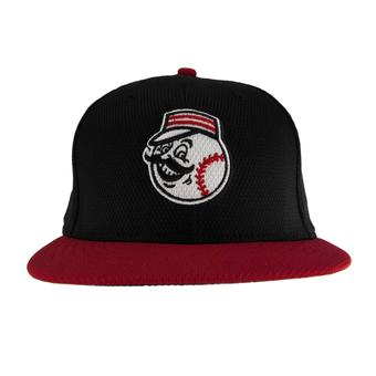 Cincinnati Reds New Era Retro Black Diamond Era 59Fifty Fitted Hat (7 1/2)