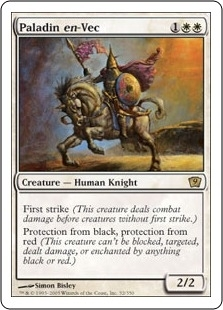 Magic the Gathering 9th Ed. 4x6 Single Paladin en-Vac