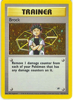 Pokemon Gym Heroes Single Brock Trainer 15/132