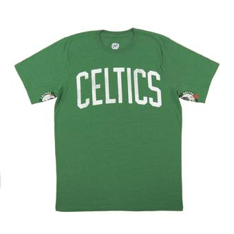 Boston Celtics Hands High Green Tri Blend Tee Shirt (Adult XX-Large)