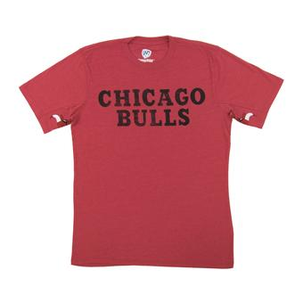 Chicago Bulls Hands High Red Tri Blend Tee Shirt (Adult X-Large)