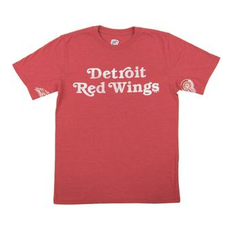 Detroit Red Wings Hands High Red Tri Blend Tee Shirt (Adult X-Large)