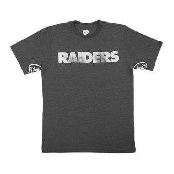 Oakland Raiders Hands High Black Tri Blend Tee Shirt (Adult Medium)