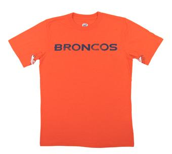 Denver Broncos Hands High Orange Tri Blend Tee Shirt (Adult XX-Large)