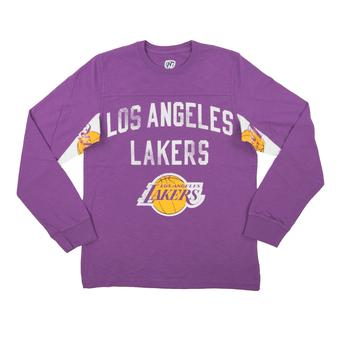 Los Angeles Lakers Hands High Purple Long Sleeve Tee Shirt (Adult Large)