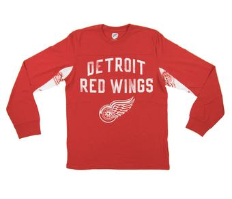 Detroit Red Wings Hands High Red Long Sleeve Tee Shirt (Adult Large)