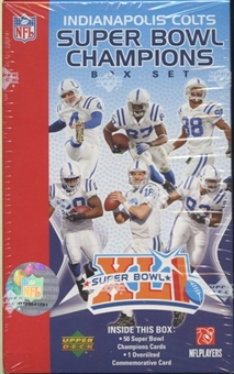 2007 Upper Deck Football Super Bowl XLI Champions Set (Box) (Colts)
