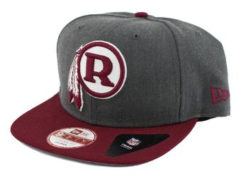 Washington Redskins New Era 9Fifty Basic Gray Flat Brim Snapback Hat (Adult One Size)