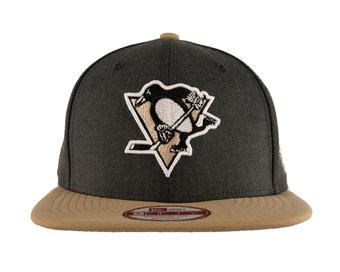 Pittsburgh Penguins New Era 9Fifty Basic Gray Flat Brim Snapback Hat (Adult One Size)