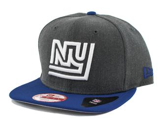 New York Giants New Era 9Fifty Basic Gray Retro Flat Brim Snapback Hat (Adult One Size)
