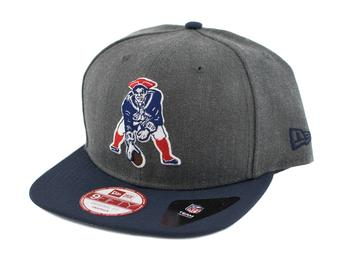New England Patriots New Era 9Fifty Basic Gray Retro Flat Brim Snapback Hat (Adult One Size)
