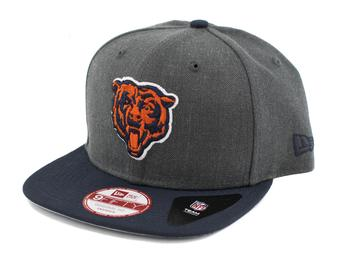Chicago Bears New Era 9Fifty Basic Gray Flat Brim Snapback Hat (Adult One Size)