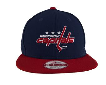 Washington Capitals New Era 9Fifty Basic Navy Flat Brim Snapback Hat (Adult M/L)