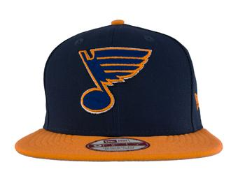 St. Louis Blues New Era 9Fifty Basic Navy Flat Brim Snapback Hat (Adult M/L)