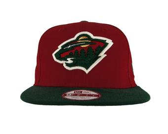 Minnesota Wild New Era 9Fifty Basic Red Flat Brim Snapback Hat (Adult S/M)