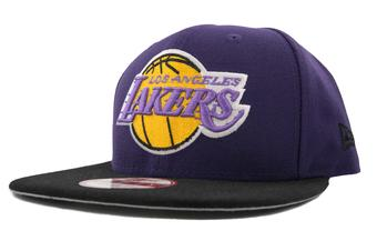 Los Angeles Lakers New Era 9Fifty Purple Hardwood Classics Flat Brim Snapback Hat (Adult OSFA)