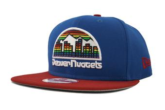Denver Nuggets New Era 9Fifty Blue Hardwood Classics Flat Brim Snapback Hat (Adult OSFA)