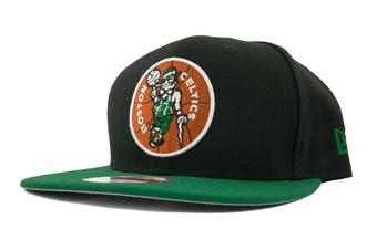 Boston Celtics New Era 9Fifty Black Hardwood Classics Flat Brim Snapback Hat (Adult OSFA)