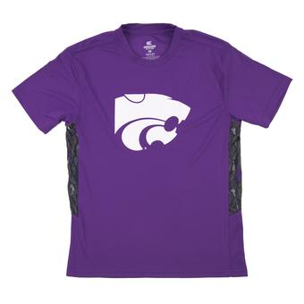 Kansas State Wildcats Colosseum Purple Youth Performance Cutter Tee Shirt (Youth M)
