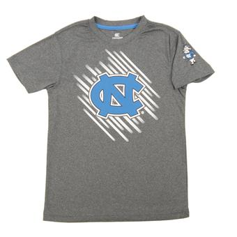 North Carolina Tar Heels Colosseum Grey Youth Performance Position Tee Shirt (Youth S)