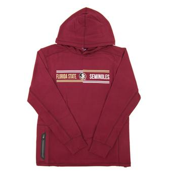Florida State Seminoles Colosseum Maroon Windchill Long Sleeve Hooded Tee (Adult Small)