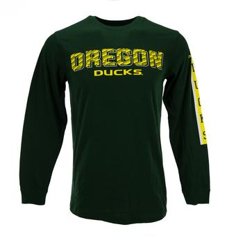 Oregon Ducks Colosseum Green Surge Long Sleeve Tee Shirt (Adult S)