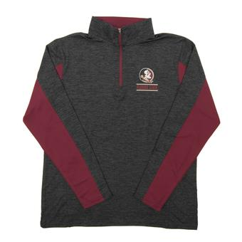 Florida State Seminoles Colosseum Grey Friction 1/4 Zip Performance Long Sleeve Shirt (Adult Small)