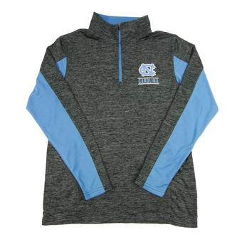 North Carolina Tar Heels Colosseum Grey Friction 1/4 Zip Performance Long Sleeve Shirt (Adult M)
