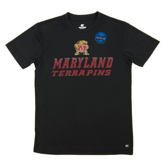 Maryland Terrapins Colosseum Black Youth Performance Pixel Tee Shirt (Youth M)