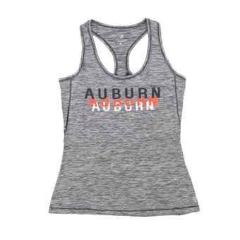 Auburn Tigers Colosseum Marled Gray Race Course Performance Tank Top (Womens Small)