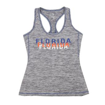 Florida Gators Colosseum Marled Gray Race Course Performance Tank Top (Womens Large)