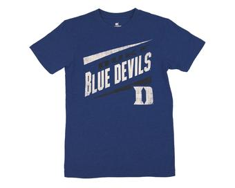 Duke Blue Devils Colosseum Blue Downslope Dual Blend Tee Shirt (Adult L)
