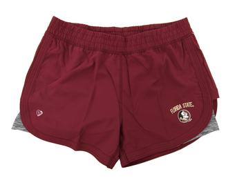 Florida State Seminoles Colosseum Womens Maroon Runaway Shorts (Womens L)
